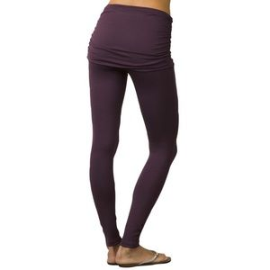 Prana | Burgundy Remy Leggings With Skirt S